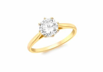 AU324.15 • Buy 9ct Yellow Gold Solitaire Ring