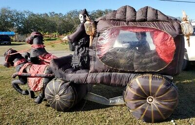 $ CDN316.42 • Buy Rare Gemmy Halloween Inflatable Airblown 12ft Carriage Hearse With Reaper