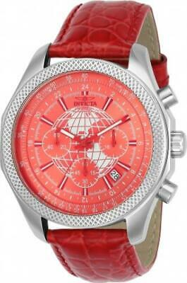 RED WORLD TRAVELER! Invicta 24141 Specialty Quartz Chronograph GMT Men's Watch • 35.11£
