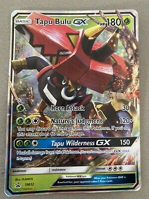 AU3 • Buy Pokemon Cards Tapu Bulu GX Black Star Promo Ultra Rare SM32 NM