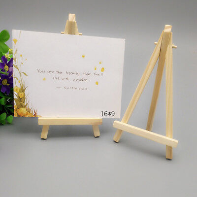 5/10Pcs Mini Wooden Table Number Easel Wedding Place Name Card Holder B2X • 7.55£
