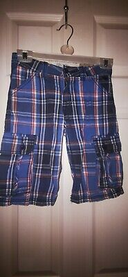Fat Face Boys Checked Shorts Size 6-7 Years Old • 1£