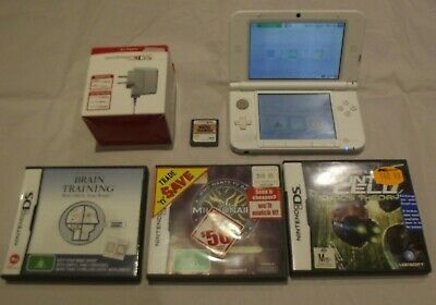 AU145 • Buy 3ds Xl Pearl White 4 Games Stylus Wall Charger Splinter Cell Millionare