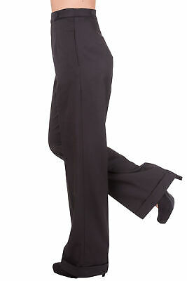 Black Wide Leg High Waist 1940's Style Vintage Retro Trousers By BANNED Apparel • 27.99£