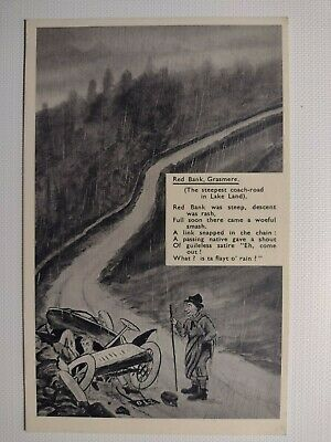 C1920's Vintage Postcard Red Bank, Grasmere - In Pencil By Abrahams, Keswick • 2.99£