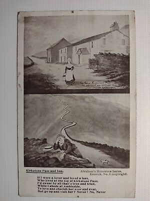 C1920's Vintage Postcard Dunmail Raise No:6 - In Pencil By Abrahams, Keswick • 2.99£