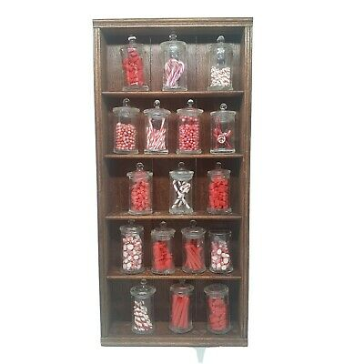 1/12th Scale Dolls House Miniature Sweet Candy Shop Shelves With Jars OOAK • 15£