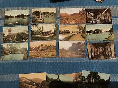 21 X Old Postcards Of Surrey - Woking, Holmbury St Mary, Lingfield, Staines, No • 4.99£