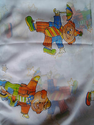 Fabric Kids Curtain Fabric Voile Clowns 200cm Wide 295cm Long • 11.90£