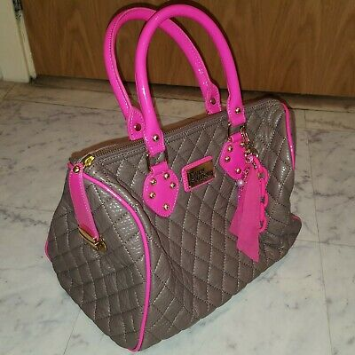 Paul's Boutique Vintage Quilted Molly Bag, Brown & Pink With Unique Charm, New • 9.99£