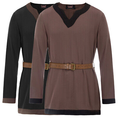 Long Sleeve Shirt Tops Medieval Tunic Vintage Party Renaissance Steampunk • 17.93£