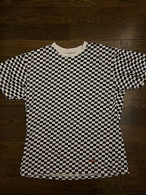 $ CDN48.48 • Buy Hanes Supreme Black And White Checkered T Shirt Lot Of 2 Size M
