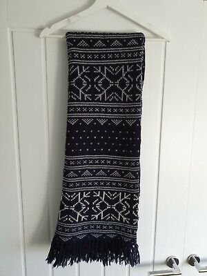 All Saints Alexi Scarf Snowflake Pattern Christmas Wool Oversized And Beanie  • 30£