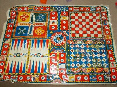 Vintage Cloth Kits - GAMES TABLE CLOTH - Approx 47  X 35  • 0.99£