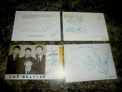The Beatles Signed Postcards • 3.99£
