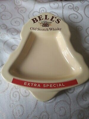 Vintsge Bells Old Scotch Whisky Extra Special Ceramic Pub Ashtray • 8.99£