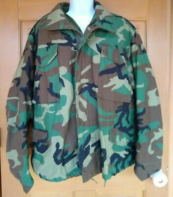 $49.99 • Buy Military Field Jacket AND Liner M65 Woodland Camo Cold Weather Coat Medium Short