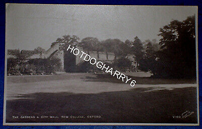 The Gardens & City Wall New College Oxford Oxfordshire RP Walter Scott Postcard • 1.69£