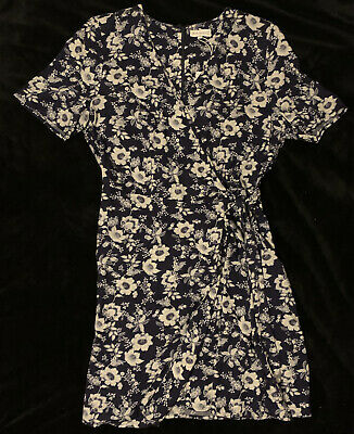Warehouse Size 14 Blue And White Floral Summer Wrap Dress **BNWT** • 6.99£