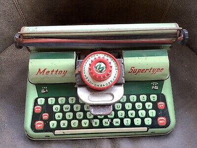 Mettoy Supertype Childs Typewriter Tin Plate Toy 1950s • 9.99£