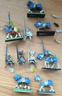 6x Knights Panther Empire Riders + Horses, Warhammer Fantasy Oop Metal • 29.99£
