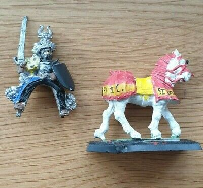 Knights Panther Grand Master On Horse, Warhammer Metal Oop • 14.99£