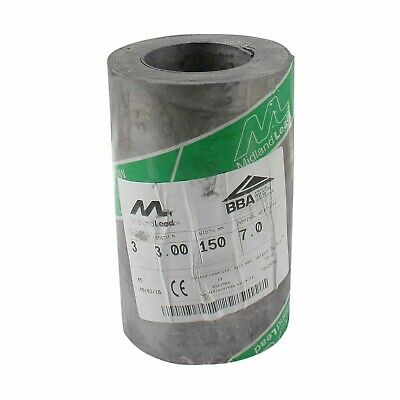150mm 6  Inch Code 3 Lead Flashing Roll Roof Roofing Repair Midland Lead • 65£