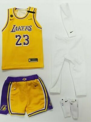 $31 • Buy  1/6 FIGURE Lebron James Lakers Jersey 23 Los Angeles NBA Fit Enterbay