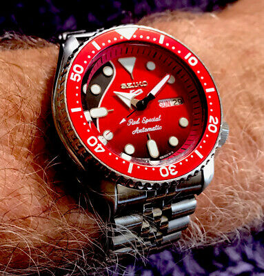 """$ CDN198.62 • Buy Seiko Classic Vintage Diver 7S26-0020 Mod """"Red Special"""" Serviced Superb And NR!"""