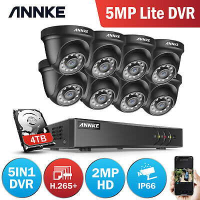 AU399.59 • Buy ANNKE 1080P HD Home Outdoor Security Camera System 8CH/4CH 5MP Lite DVR 0-4TB IR