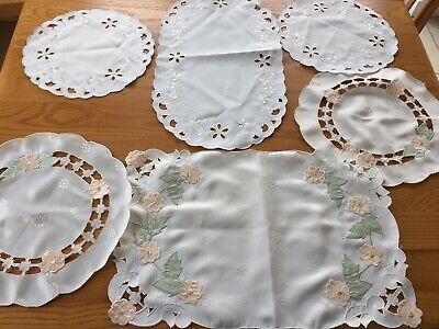 2 Sets Polyester Dressing Table Textile Doilies Mats • 6£