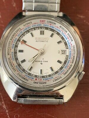 $ CDN289.31 • Buy Vintage Seiko World Time Automatic 6117-6400 White Dial 1969 Waterproof Model