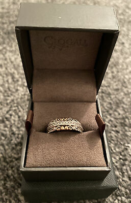 Clogau Silver & Rose Gold Ring - Size N • 250£