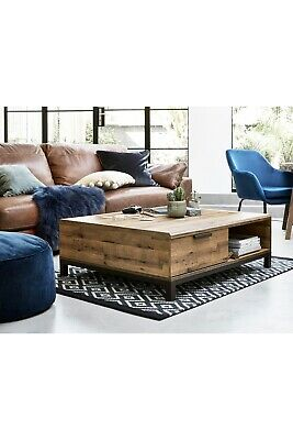 NEXT Bronx Storage Coffee Table Oak Effect • 150£
