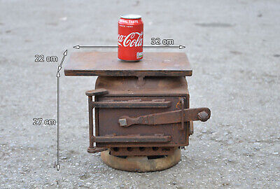 Iron Smelter Old Metal Smelting Oven Small Furnace Oven Iron Door Stove FREE DEL • 99.95£