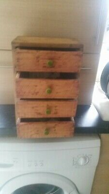 Small Antique Apprentice Piece Chest Of Drawers, Pine Collectors Drawers • 100£