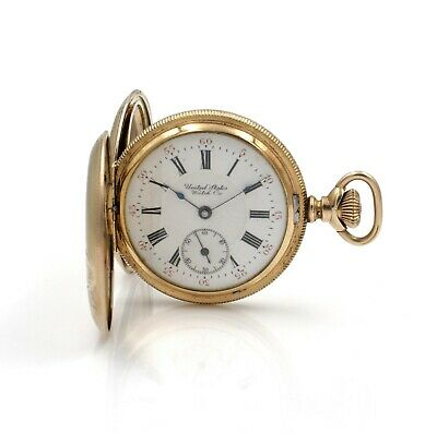 Waltham Mass Antique Gold Plated 15j Double Hunter Pocket Watch #10439-6  • 22.87£