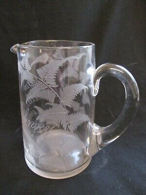 Victorian Glass Jug - Engraved     For  Dear Little Johnny 1886 • 14.99£