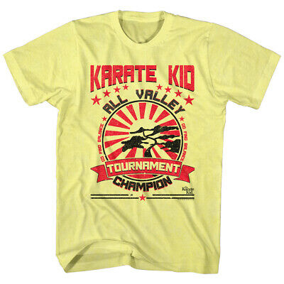 $29.99 • Buy Karate Kid Official T Shirt Mens 1984 All Valley Champion Yellow Heather Merch