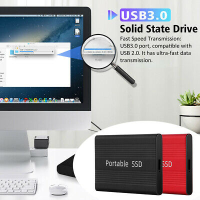 USB3.0 External SSD Solid State Drives 500GB 1TB 2TB Portable Mobile Hard Drive • 44.41£
