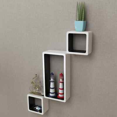 AU96.99 • Buy VidaXL 6x Wall Cube Shelves White And Black Display Hanging Storage Bookcase