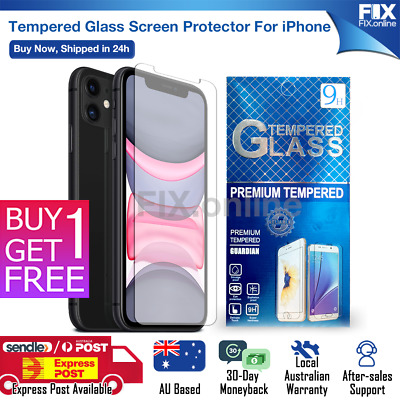 AU4.28 • Buy Tempered Glass Screen Protector For Apple IPhone 6 S 7 8 Plus X S 11 12 Pro Max