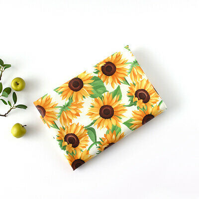 Laminated Cotton Fabric By The Yard Flower Fabric 39  Wide CM Sunflower Fabric  • 10.85£