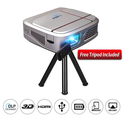 AU375.99 • Buy 3300LMS Travel Size DLP Projector 3D Mirror Screen Mircast Airplay For IPhone AU