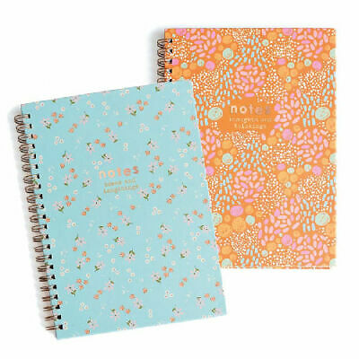 £6.99 • Buy A4 Twin Wiro Spiral Notebook - Lined Notepad Bond Jotter Journal Notes College