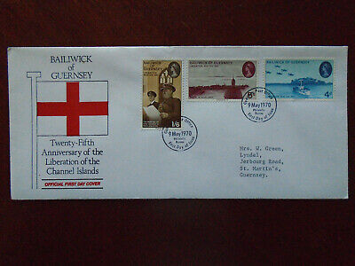 Guernsey First Day Cover 1970 Anniv.Liberation  • 0.20£