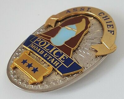 £69.99 • Buy Obsolate Historical Police Usa Badge ... Assistent Chief UTAH MOAB 1911