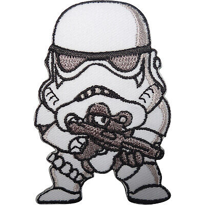 Star Wars Stormtrooper Patch Embroidered Badge Iron Sew On T Shirt Bag Jeans Cap • 2.79£