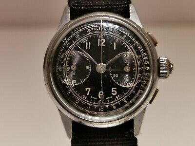 $ CDN820.89 • Buy Vintage Rare Ww2 Military Swiss Men's Mechanical Chronograph Unbranded Watch