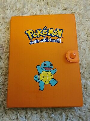 Original Squirtle Pokemon Binder Complete Set Of Mewtwo Strikes Back Topps Cards • 200£